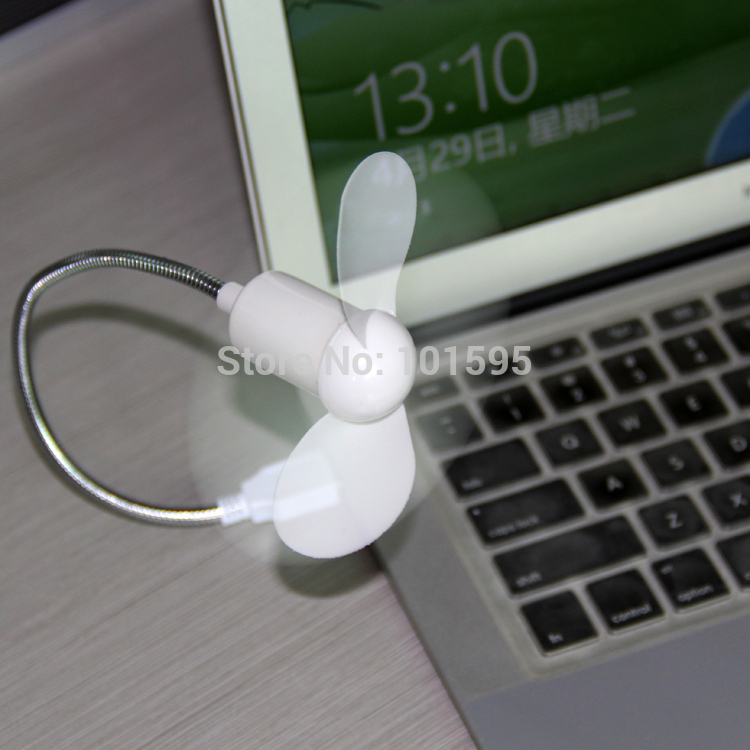 New Flexible Mini USB Fan Cooler Breathless For Laptop Notebook Computer Desktop PC Portable Low Noise Low Power Consumption(China (Mainland))