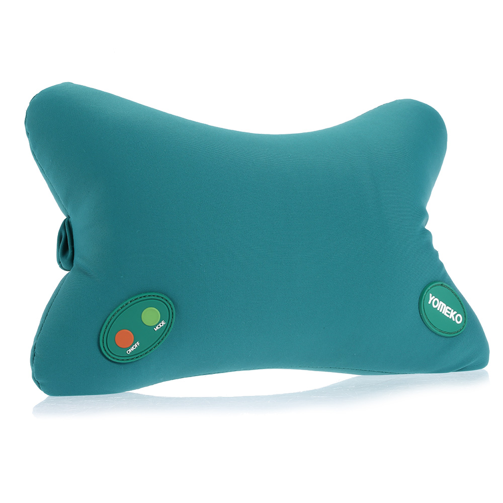 YOMEKO NEW 6 Modes Massage Pillow Neck & Head Relaxing Shoulder Pillow Bone-shape for Home&Car Use Body Massager Best Gift(China (Mainland))