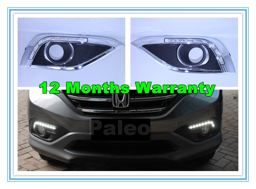 Free Shipping For Honda CRV 2012 2013 New Pair Of 7 LED DRL Daytime Running Lights With Wire Of Harness<br><br>Aliexpress