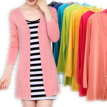 Korean version of the new spring and summer air conditioning cardigan jacket modal female V sunscreen coat shawl collar
