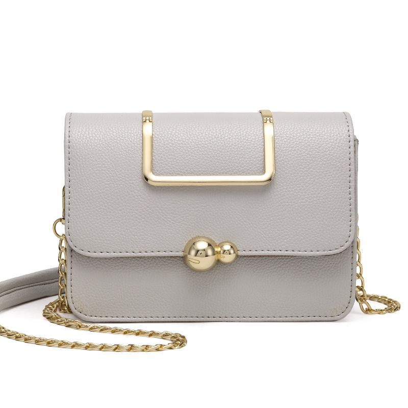 1 white shoulder bag