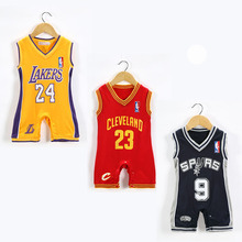 JP66182 Baby Sleeveless Basketball Jumpsuit NBA Kids' Boys Romper Sport style Newborn Infant Toddler Climbing suit Lakers Spurs