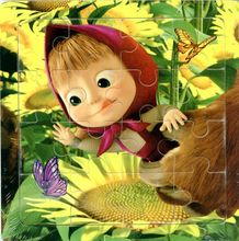 3D Wood paper Jigsaw Puzzles Toys For Children Masha And Bear Kids Toys for 2+ years Baby Toys Educational(China (Mainland))