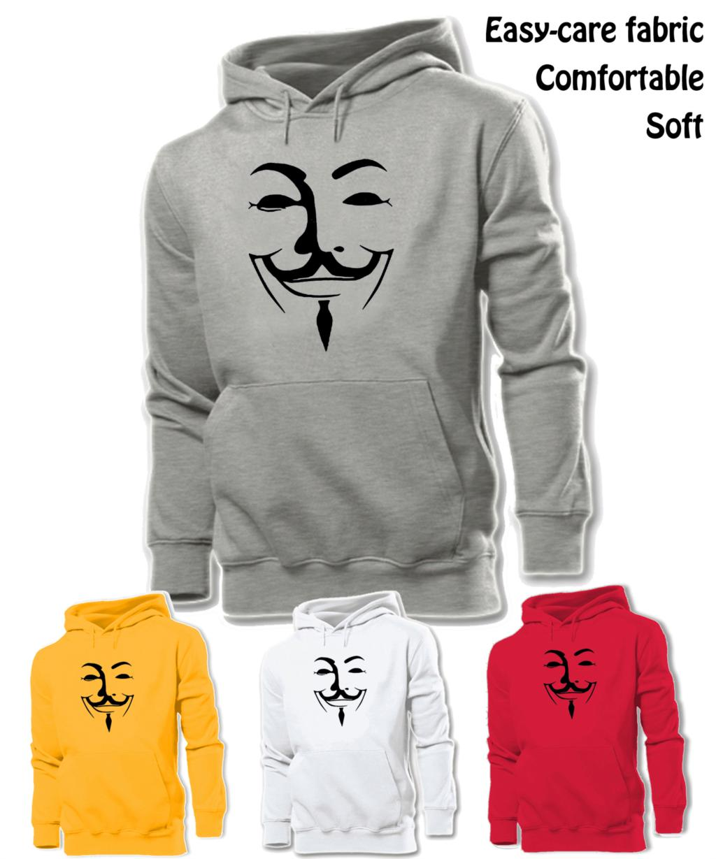 245-BK Anonymous V For Vendetta Disobey Obey Fashion Black Graphic Hoodie Men's Boy's Women's Girl's Sweatshirt Hoodie Tops(China (Mainland))