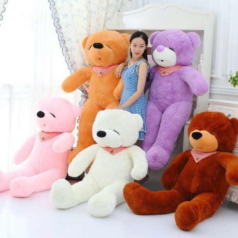 Low price 80cm giant teddy bear stuffed animals large children plush toys peluches baby dolls for women big toy(China (Mainland))