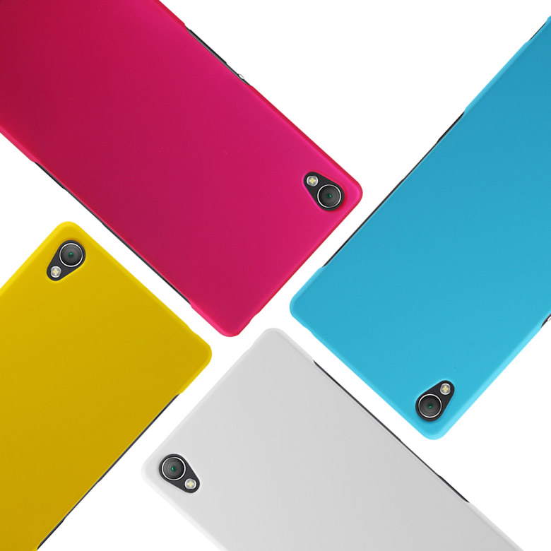 Hard plastic back cover case sony xperia z3 d6603 frosted matte hybrid colors screen protector - Little Fun Small store