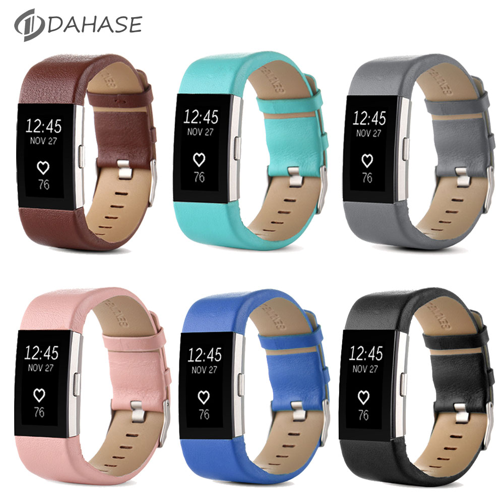 DAHASE Replacement Band for For Fitbit Charge 2 Heart Rate Wristband Bracelet Belt Genuine Leather Strap For Fitbit Charge 2(China (Mainland))