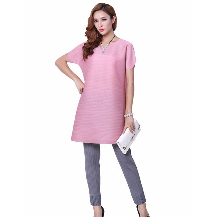 Korean and Jappan Design Brief Style candy Color round neck Breathable Pleated Blouses , Fashion Summer dress Одежда и ак�е��уары<br><br><br>Aliexpress
