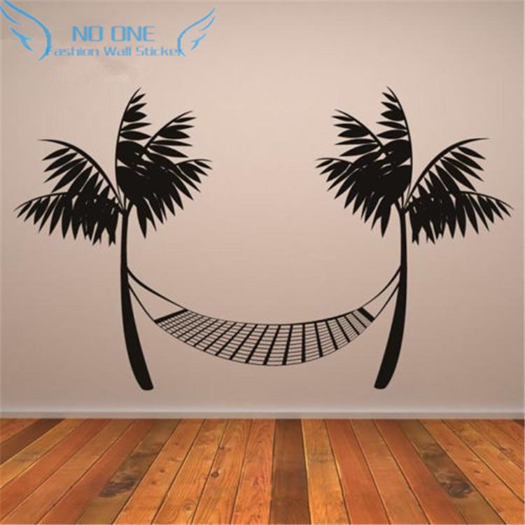 Beach Wall Decor Stickers : Beach hammock wall decals vinyl stickers home decor