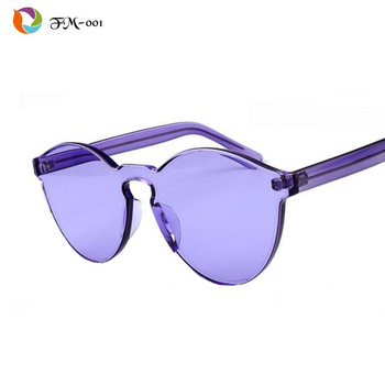 NEW Transparent frame WOMEN brand circle Colorful Coating SUNGLASSES fashion men fashion glasses Good quality oculos de sol