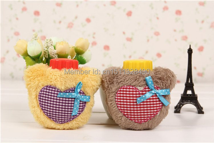 1pcs Free Shipping Hot Water Bottle Heart Design Cover - Great Christmas Gift sRQV(China (Mainland))