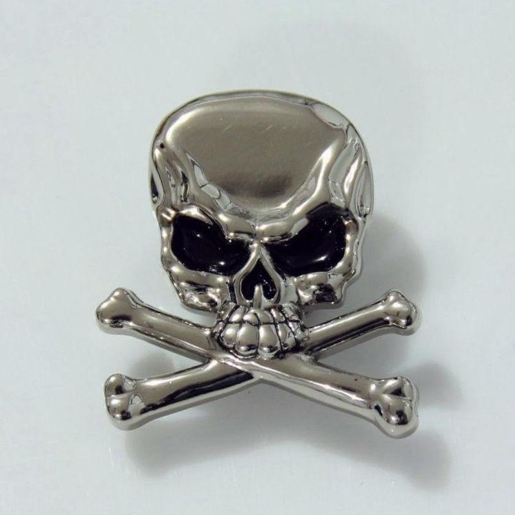 10pc Western Cowboy Decor Skull Crossbones Conchos Leathercraft Silver(China (Mainland))