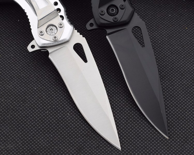 Buy Tactical Survival Knife 5CR13MOV Steel Blade Aluminum Handle Folding Knife BUCK Pocket Hunting Knives Camping Outdoor EDC Tools cheap