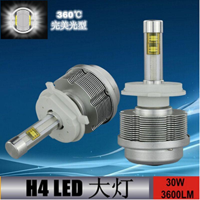 1 pair/lot Car Accessories Auto H4 Headlight Led H4 High Power H4 Led Car Headlight 30W 3000K 4300K 5000K 6000K Light Source.(China (Mainland))