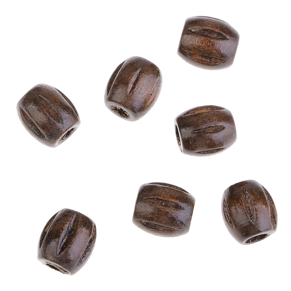 150pcs Natural Wooden Spacer Beads for Bracelets Jewelry Making Accessories