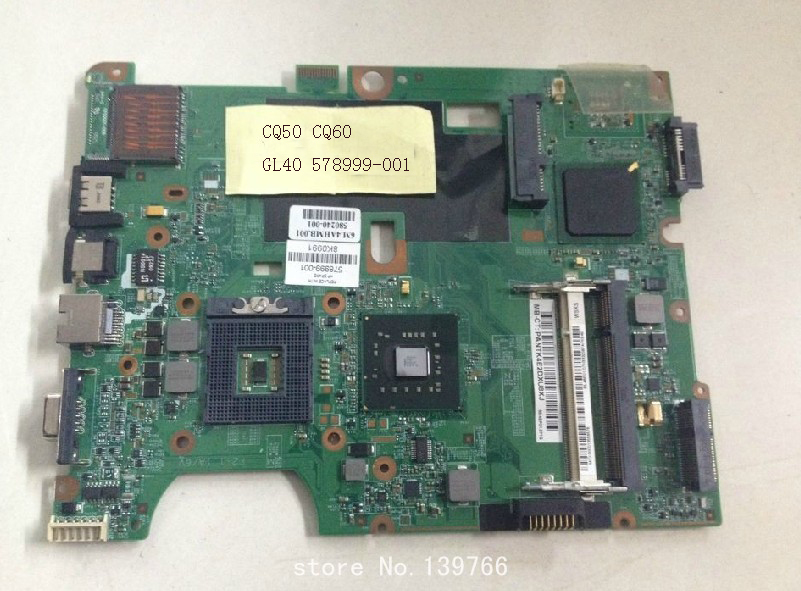 578999-001 tablero para HP compaq presario CQ60 CQ50 G50 G60 placa base intel GL40 chipset envío gratis(China (Mainland))