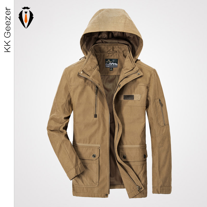 High Quality Brand Thick Outdoor Sport Jacket and Coats Winter Men Windproof Hood Parka Outwear Khaki Casual Army Windbreak(China (Mainland))