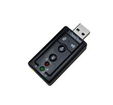 Nero 7.1 canali scheda audio usb, speaker mic 3d esterno schede audio, scheda audio adattatore per notebook desktop spedizione gratuita(China (Mainland))