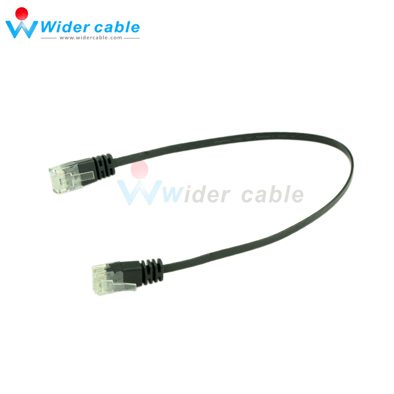 10 Pieces Black Smooth Ultra Flat Cat6 Ethernet Patch Cable RJ45 Network Cable(China (Mainland))