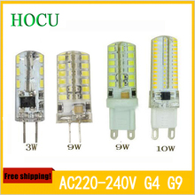 G4 G9 led AC220V lampada luz led SMD 2835 3014 3W 9W 10W Replace halogen Lamp 360 Beam Angle Warranty bombillas LED Bulb Lamps