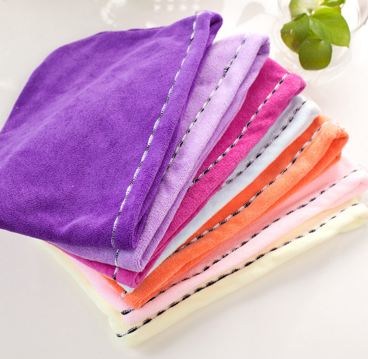 Free Shipping Microfiber Bath Towel Hair Dry Hat Cap Quick Drying Lady Bath Tool(China (Mainland))