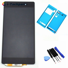 Free  Shipping For Sony Xperia Z2 L50W D6502 D6503 Original LCD Display Touch Screen Digitizer Assembly With Logo and Adhesive(China (Mainland))