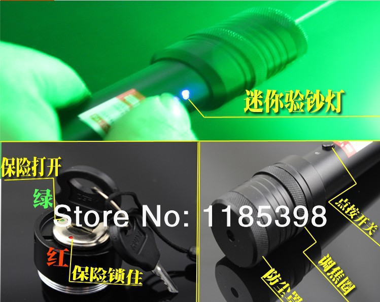NEW!Promotions--Green Laser 5000mw,Green Laser Pointer Flashlight Style Adjustable Focus+Rechargeable Battery+Free Shipping(China (Mainland))