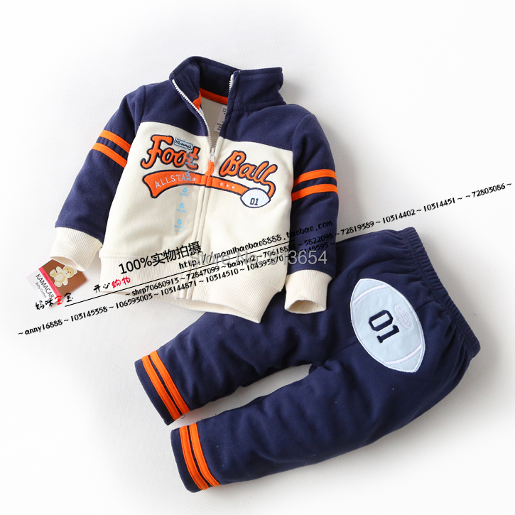 Spring and autumn male child set single tier polar fleece fabric set clothing baby boy casual sports set