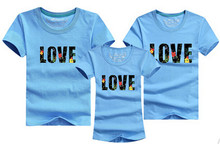 1 Piece 2016 Fashion Dad Mon Daughter and Son Cartoon T-shirt 12 Clors For Korean Family fitted short-sleeved T-shirt Boutique(China)