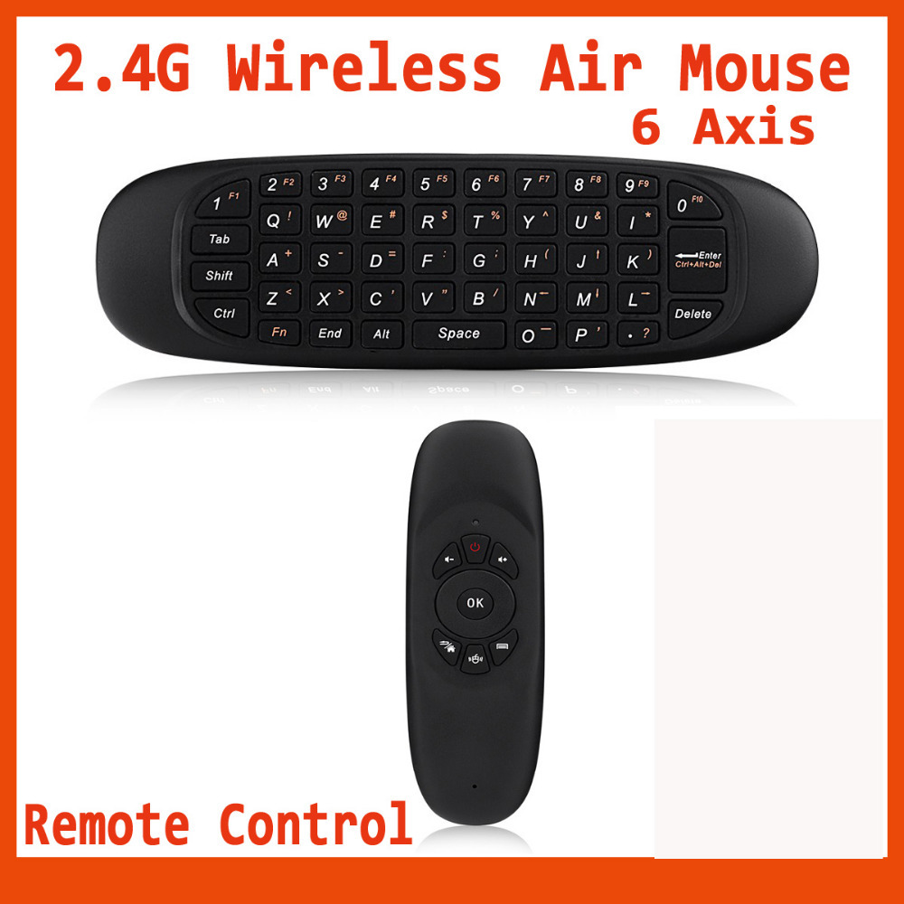 Gyroscope 2.4G Wireless Keyboard Fly Air Mouse Remote Combo 6 Axis Control TV BOX Mini/Laptop PC - Icablelink Electronics Limited store