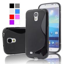 Free Shipping for Galaxy S4 mini case,S Line Wave Curve Soft TPU Gel Skin Cover Case for Samsung Galaxy SIV Mini S4 Mini i9190