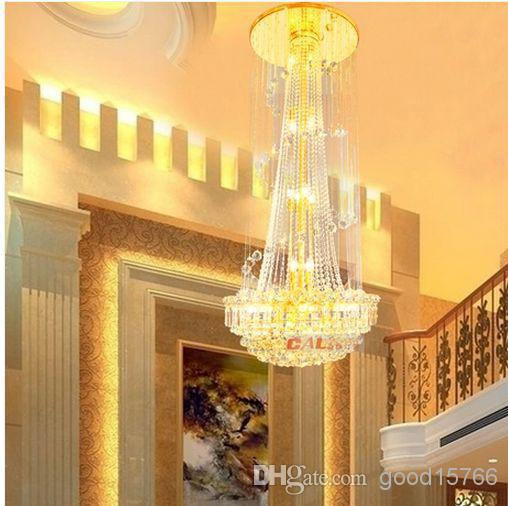 Wholesale - Restaurant specials Crystal ceiling lamp Plumb lamp light living room light stair light compound building ceiling la(China (Mainland))