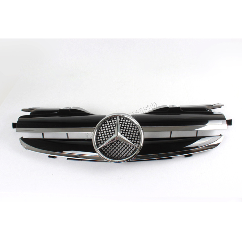 ABS Black Painted R170 SLK Class SLK230 SLK200 Front Bumper Grills, Auto Car Grill For Ben(Fit For Mercedes-Benz R170 1997-2004)(China (Mainland))