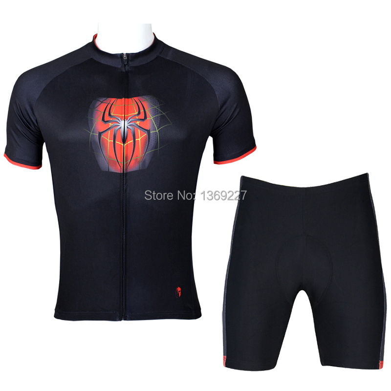 Paladin mans Summer-Autumn Spiderman Cycling Jersey sets  Maillot ciclismo Cycling Sportswear clothing camisa ciclismo<br><br>Aliexpress