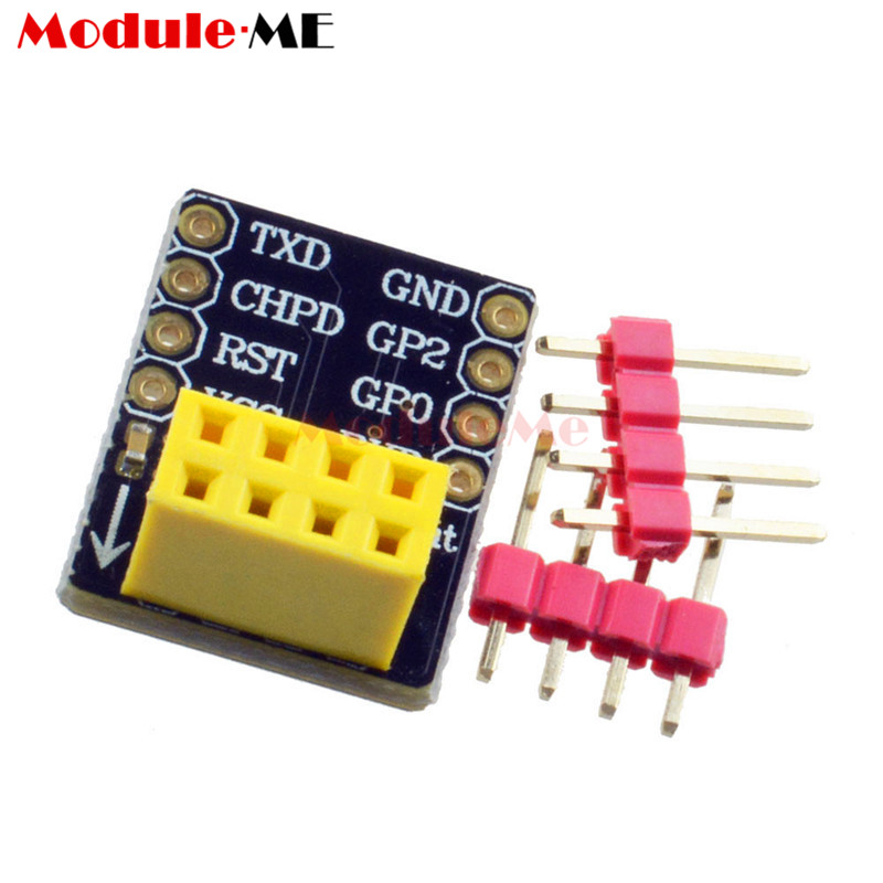 Free Shipping! ESP8266 ESP-01 ESP-01S Breadboard Adapter PCB for Serial Wifi Transceiver Network Module(China (Mainland))