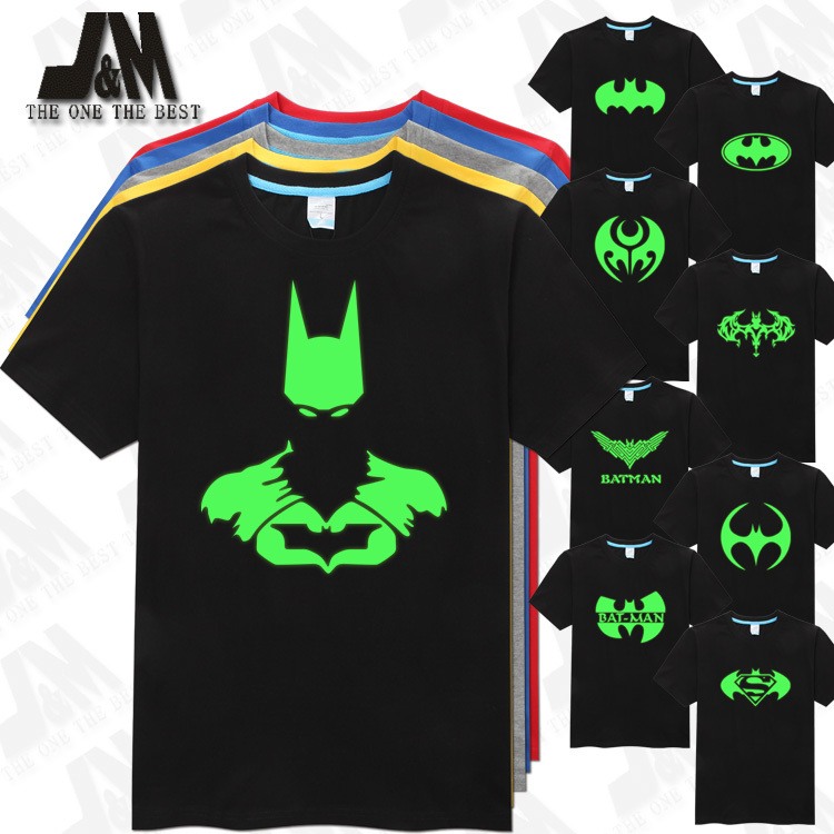 batman t shirt men 39 s t shirt cool men luminous tshirt in t shirts from men 39 s clothing. Black Bedroom Furniture Sets. Home Design Ideas