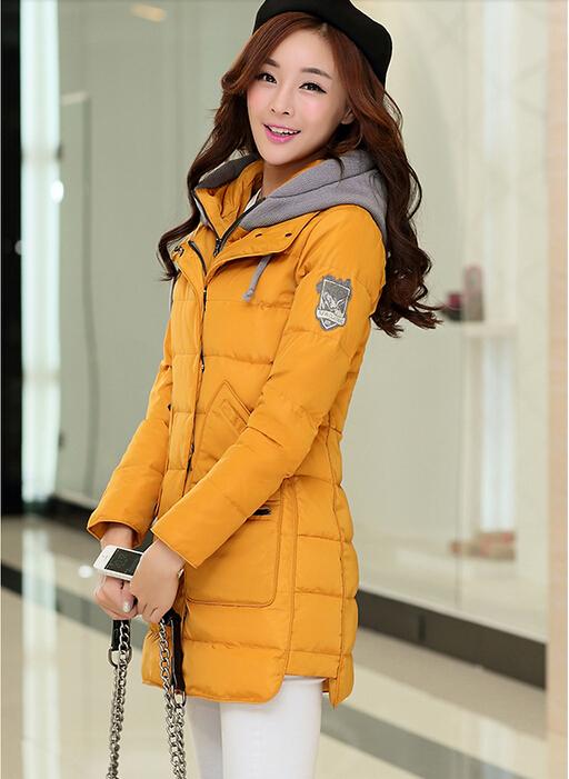 2015 winter women jacket Down coat medium-long down jackets parkas womens female patchwork thickening outerwear snow wear
