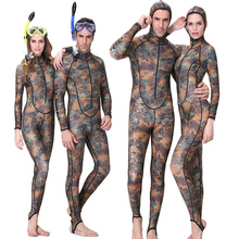 NEW ! UPF50+ Camouflage Lycra Wetsuit men women Diving Suit full-body with hood Swimsuit Snorkeling Surf Spearfishing Rashguard(China (Mainland))