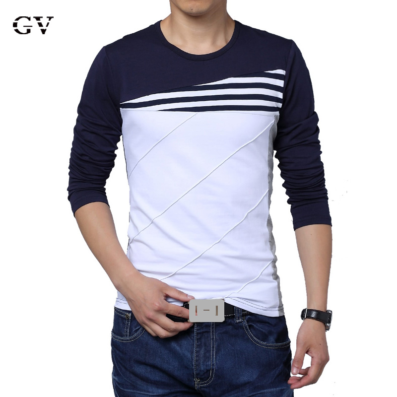 Free Shipping Men T Shirts Fashion 2016 Round Neck Long