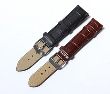 1 unid 20 mm cuero genuino de la correa hebilla de acero reloj de pulsera de banda suave