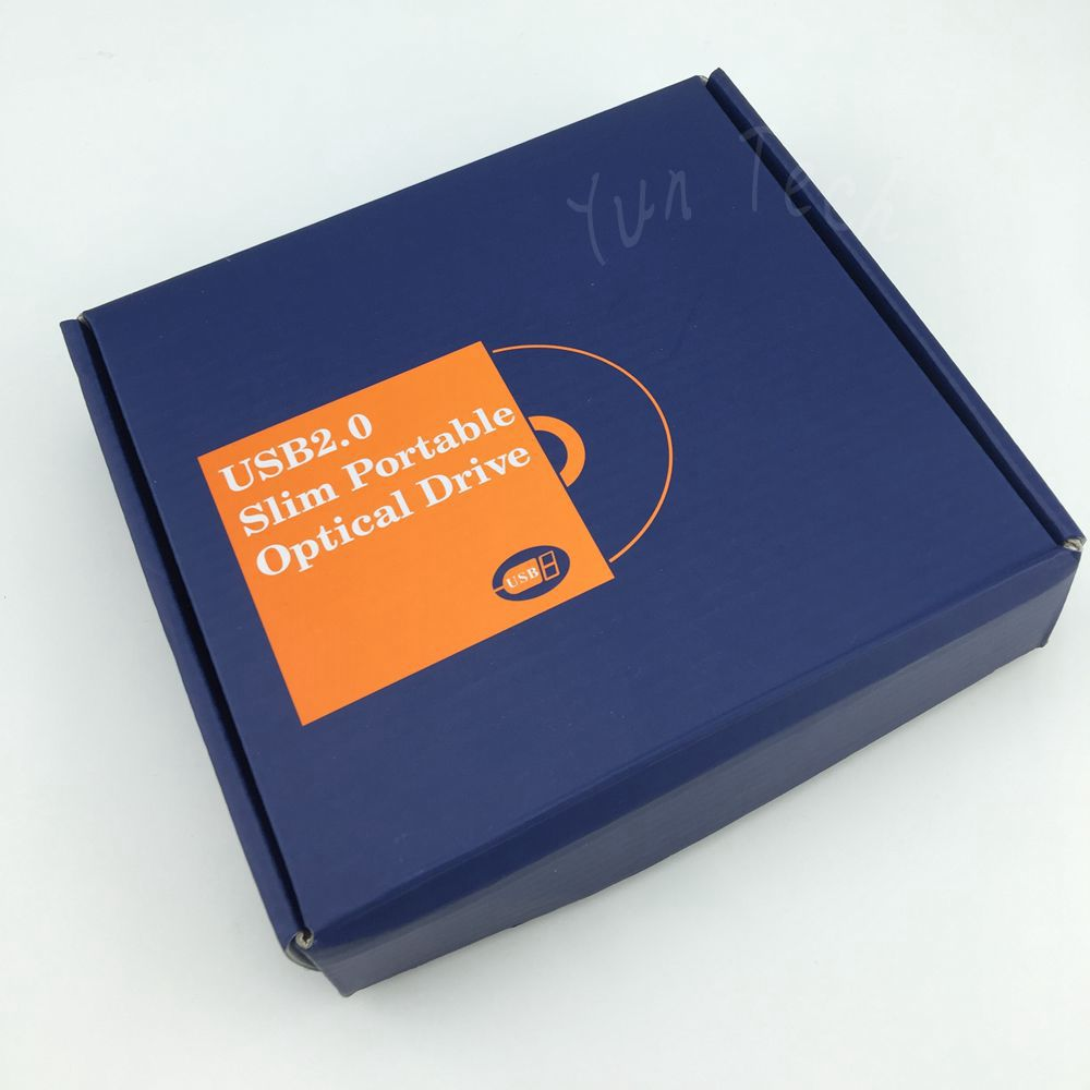 External DVD Rom Case USB 2.0 Enclosure Case to 12.7mm SATA Slim CD DVD-ROM RW Blu-ray Optical Drive BOX(China (Mainland))