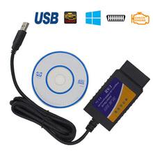 High quality car diagnostic-tool USB elm327 obd2 ferramenta automotiva engine analyzer for citroen c3 Daihatsu fiat mazda 6(China (Mainland))