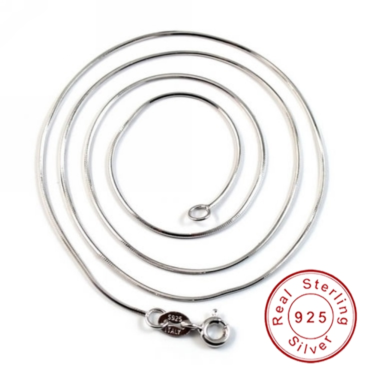 16'' 18'' Top Quality 100% Real Pure 925 Sterling Silver Snake Chain Necklace Fine Jewelry SCN101(China (Mainland))