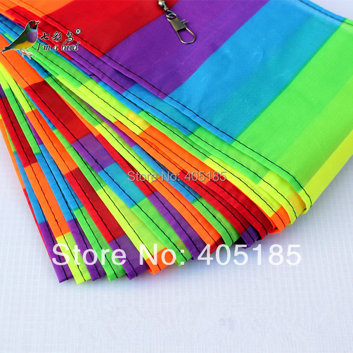 Free Shipping Outdoor Fun Sports Kite Accessories /10m Rainbow bar Tail For Delta kite/Stunt kite Kids Gift(China (Mainland))
