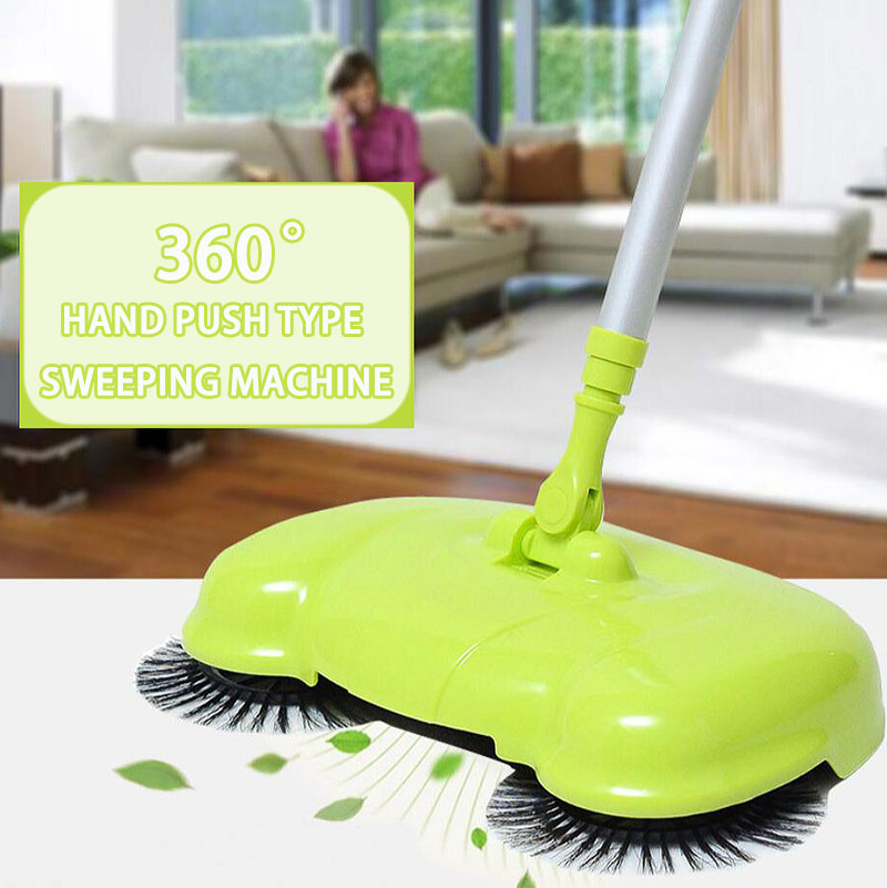 2016 New Multifunction Home Hand-Push Sweeper Broom Mops Dustpan 360 Degree Rotatable Cleaner for Home Hard Floors Dust Cleaner(China (Mainland))