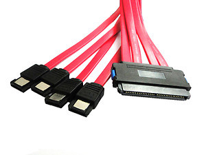 Internal 32 Pin SFF 8484 to 4 eSATA 7 Pin External Hard Disk SAS Cable 50cm(China (Mainland))