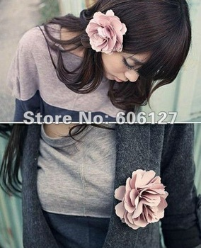 Free shipping! Wholesale~ Fashion hair accessories,Lady style Flower hair clips ,Brooch,30pcs