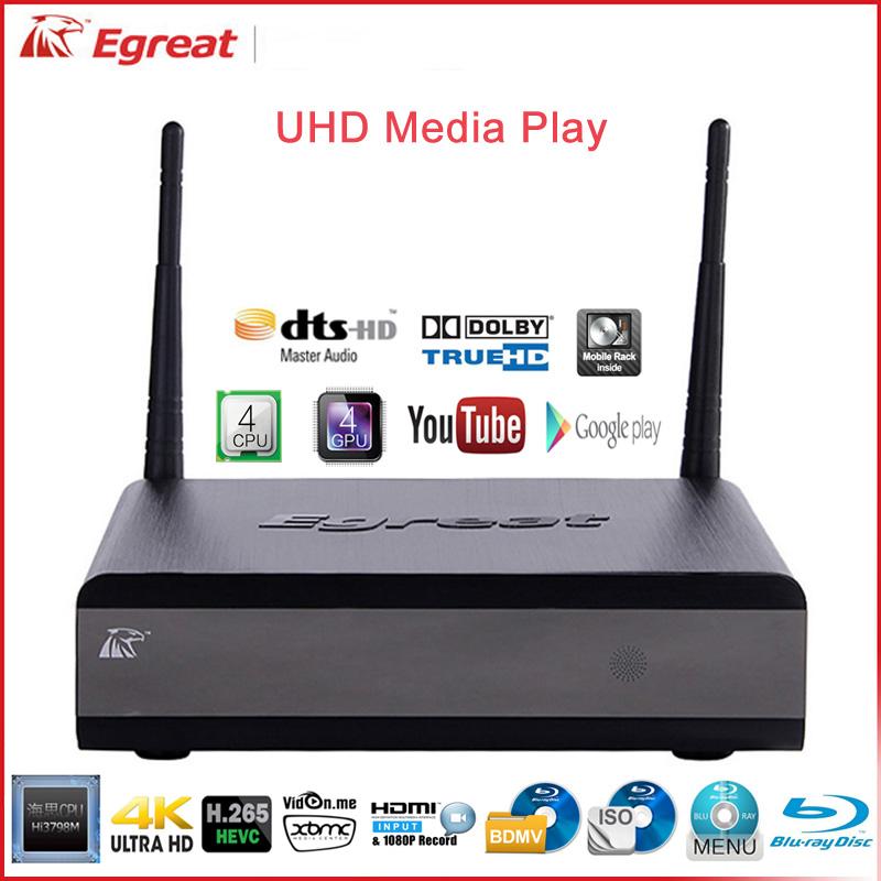 2pcs/pair Egreat R200S-II 4K Blue-ray UHD Media Player Hi3798M Quad core ARM A7 processor quad core Mali-450 GPU Media Player(China (Mainland))