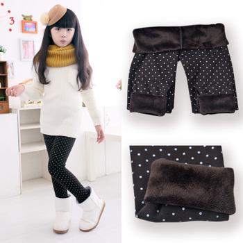 2015 Spring Autumn Winter New Fashion Children's 3-11 Year Cotton Warm Pant Girls KidsTrousers Print Legging