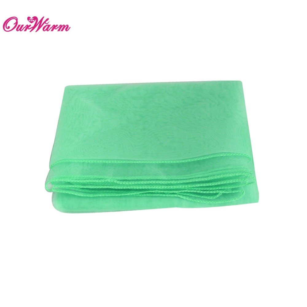 wholesale 10pcs mint green organza Table Overlay Square Tablecloth Wedding Party Decor(China (Mainland))